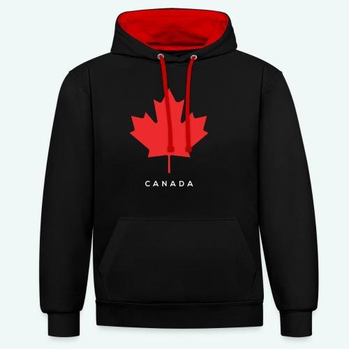 Canada-Lover - Kontrast-Hoodie