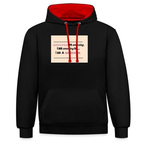 UNICORNS - Contrast hoodie