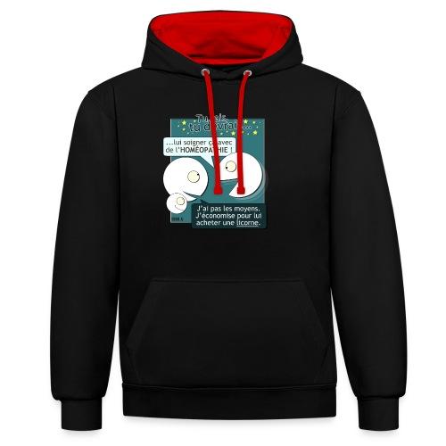 Conseils & homéopathie - Sweat-shirt contraste