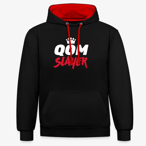 queen of the mountain slayer - Contrast Colour Hoodie