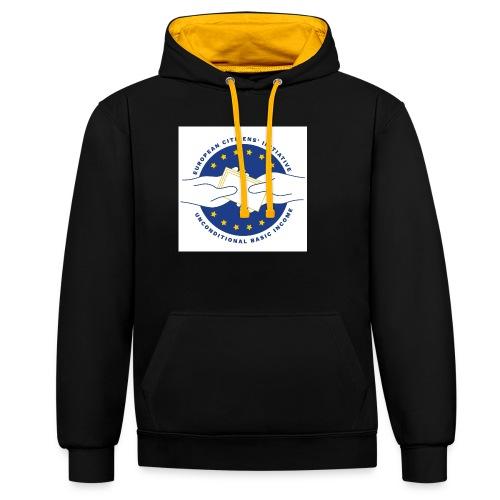 Logo eci-UBI 2020 OP WIT VIERKANT - Contrast hoodie