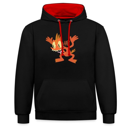 Cyril the Mutant Goldfish - Contrast Colour Hoodie