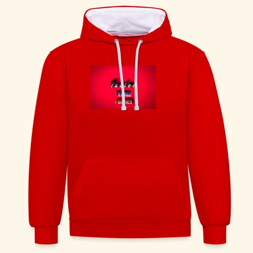 IMG 0400 - Contrast Colour Hoodie