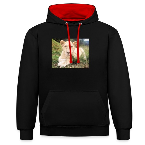 10536 2Cmoomba groot - Contrast Colour Hoodie