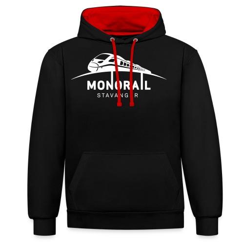 Monorail Hvit - Kontrast-hettegenser