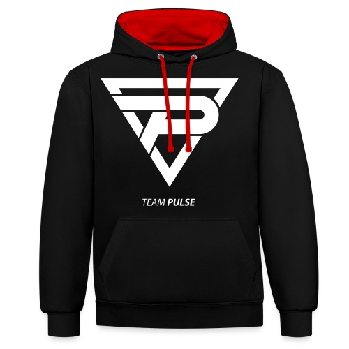 Team Pulse - White - Contrast Colour Hoodie