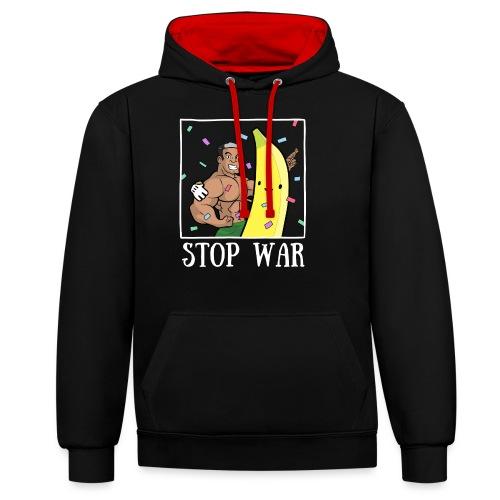Stop War Banane Musculation - Sweat-shirt contraste
