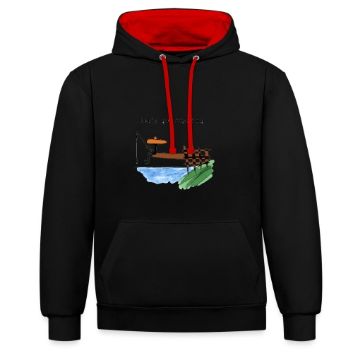 Let's go fishing - Contrast Colour Hoodie