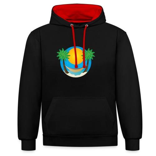 Île de rêve - Sweat-shirt contraste