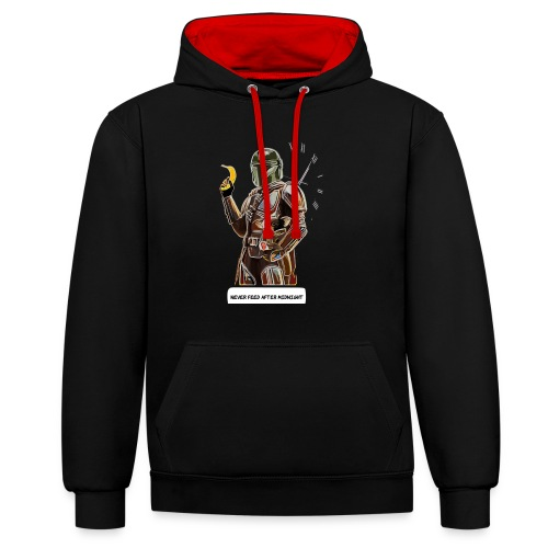 Never Feed After Midnight - Contrast Colour Hoodie