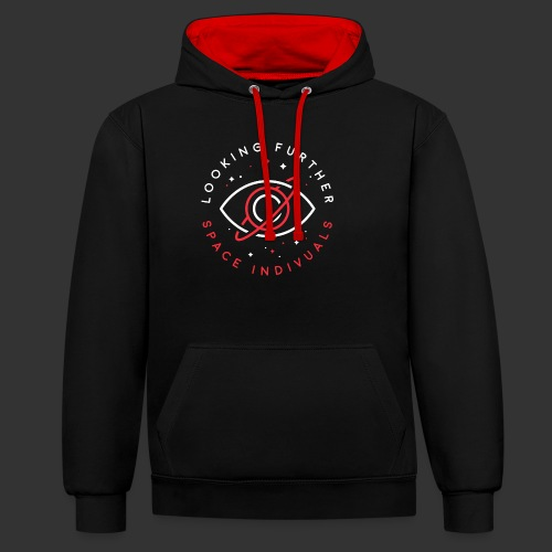Space Individuals - Looking Farther Black - Contrast Colour Hoodie