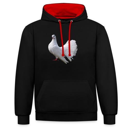 Taube Brieftaube Friedenstaube Vogel - Kontrast-Hoodie