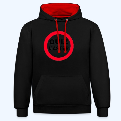 Quiz Master Stop Sign - Contrast Colour Hoodie