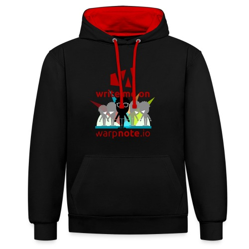 Write me on WarpNote - Kontrast-Hoodie