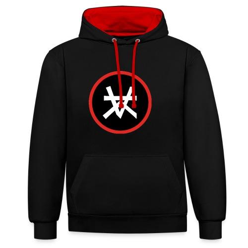 Kairos Logo Red&Round - Contrast hoodie