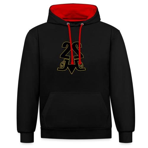 2J logo - Kontrast-hættetrøje