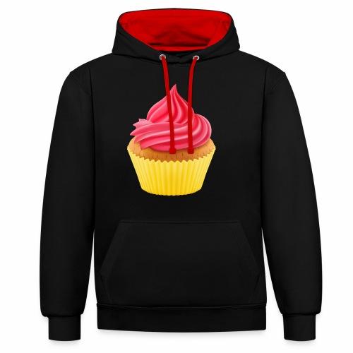 Cupcake - Kontrast-Hoodie