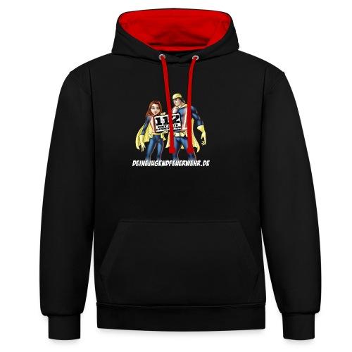 Superhelden & Logo - Kontrast-Hoodie