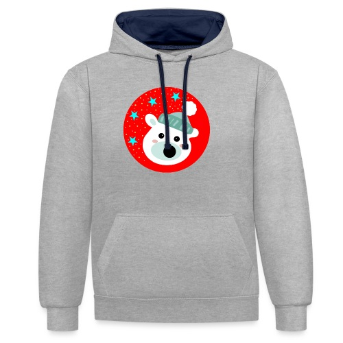 Winter bear - Contrast Colour Hoodie
