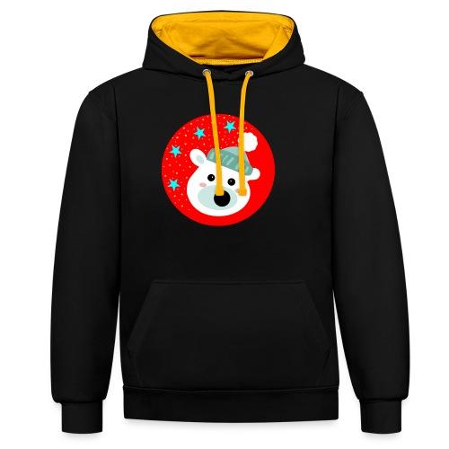 Winter bear - Contrast Colour Hoodie