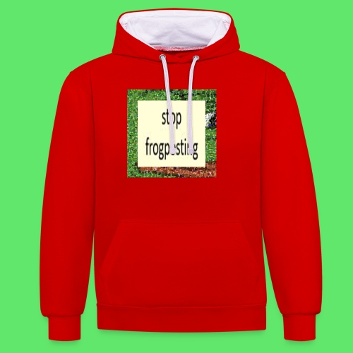 Frogposter - Contrast Colour Hoodie