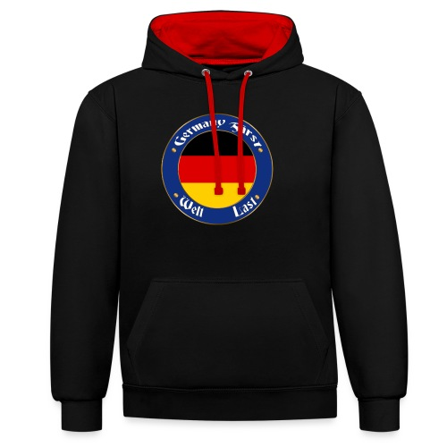 germany first - Contrast Colour Hoodie