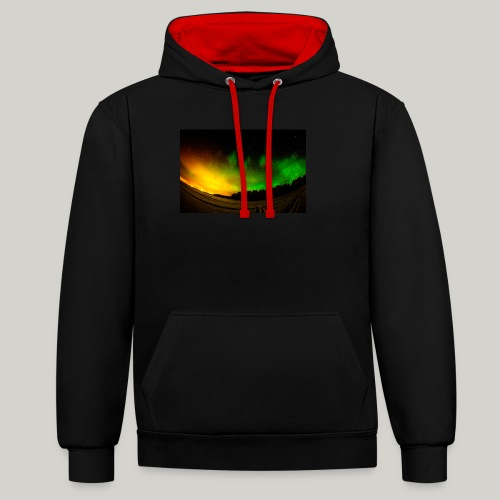 Northern Light - Contrast Colour Hoodie