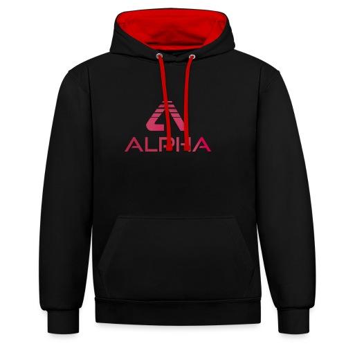 Alpha Logo Pink - Kontrast-Hoodie