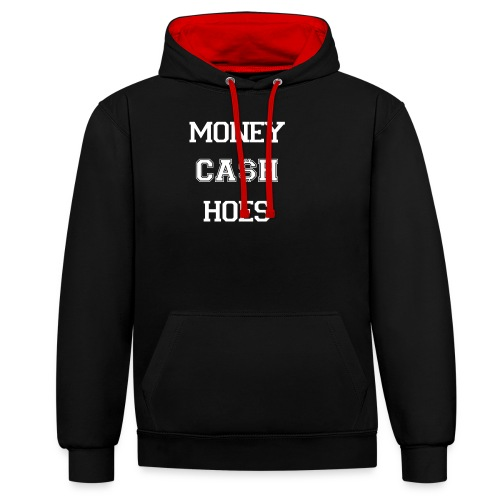 Money cash hoes - Contrast Colour Hoodie