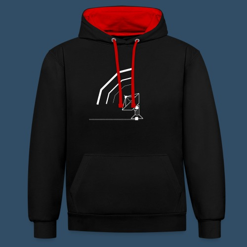 Calling All Broadcasts Satellite Dish - Contrast Colour Hoodie