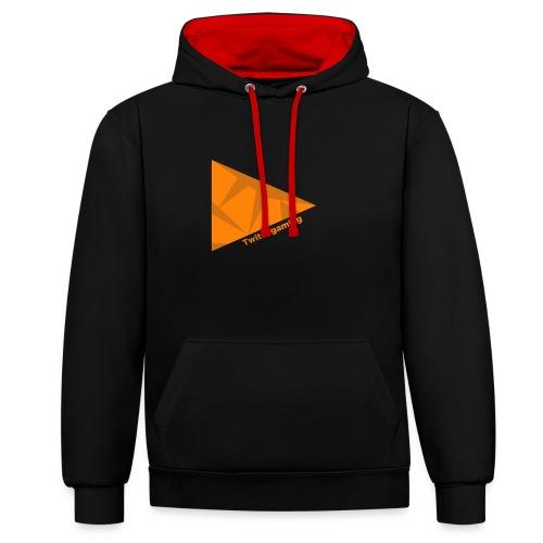 HotPans Twitchgaming Logo hinten - Kontrast-Hoodie