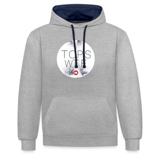 Official TOPS WTF T-Shirt - Contrast Colour Hoodie