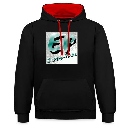 Elektro-Pocke T-Shirt Premium - Kontrast-Hoodie