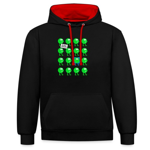 We are all green dots! - Kontrast-Hoodie