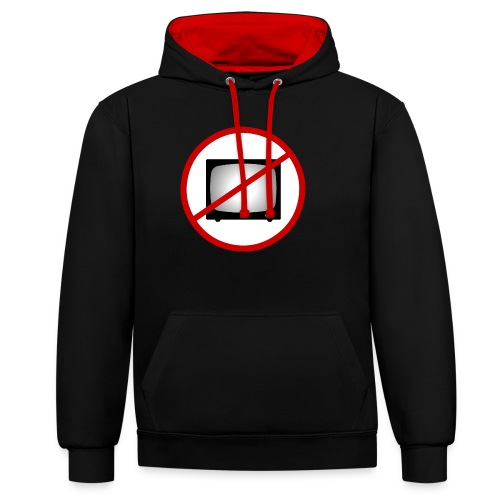 notv - Contrast Colour Hoodie