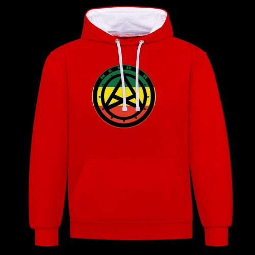 Nether Crew Black\Green\Yellow\Red Hoodie - Felpa con cappuccio bicromatica