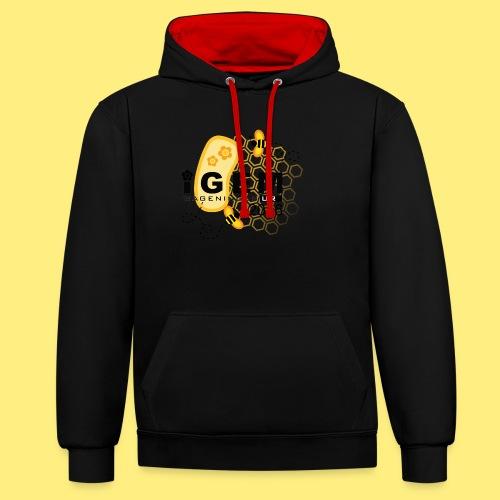 Logo - shirt women - Contrast hoodie