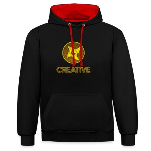Creative logo shirt - Kontrast-hættetrøje