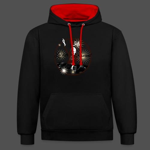 DJ An - Contrast hoodie