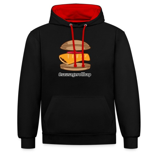 Sausage Roll Bap - Contrast Colour Hoodie