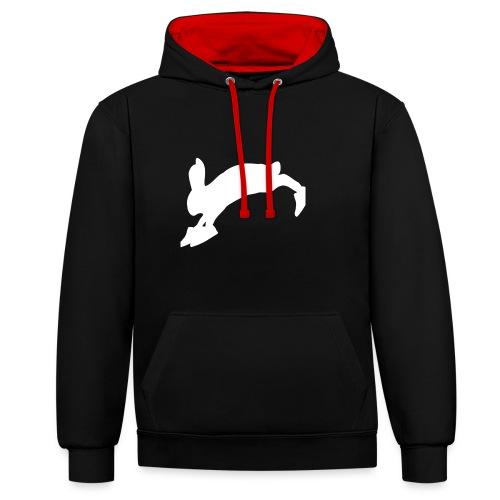 Bunny_Logo - Kontrast-hættetrøje