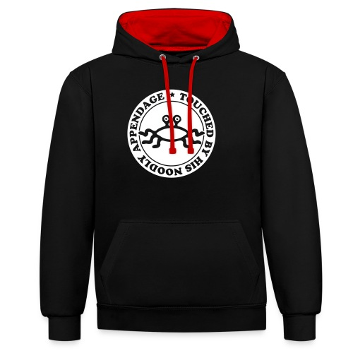 Touched by His Noodly Appendage - Contrast Colour Hoodie
