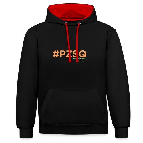 PZSQ 2 - Felpa con cappuccio bicromatica