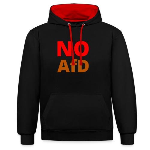 No AfD Keine AfD - Kontrast-Hoodie
