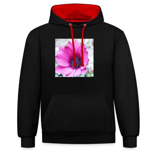 Flowerista - Kontrast-Hoodie