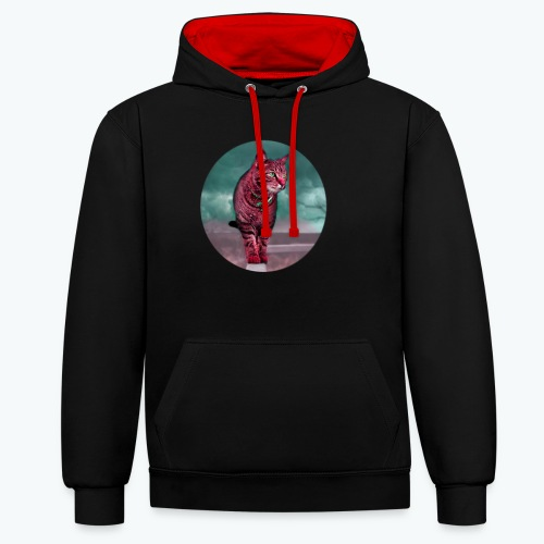 Chat sauvage - Sweat-shirt contraste