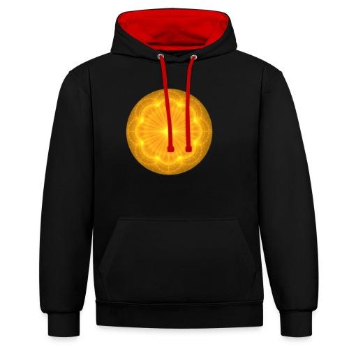 Golden Radiance Mandala Heart - Contrast hoodie
