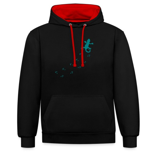 Messy Lizard Paws - Contrast Colour Hoodie