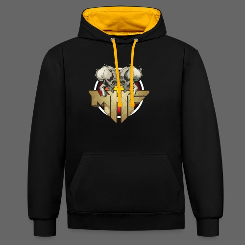 new mhf logo - Contrast Colour Hoodie
