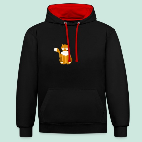 Kitty cat - Contrast Colour Hoodie